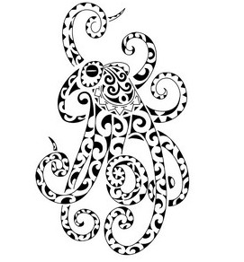 Maori Polynesian Octopus Tattoo Photo