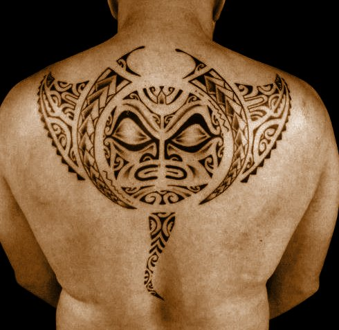 Maori Polynesian Tattoo On The Back