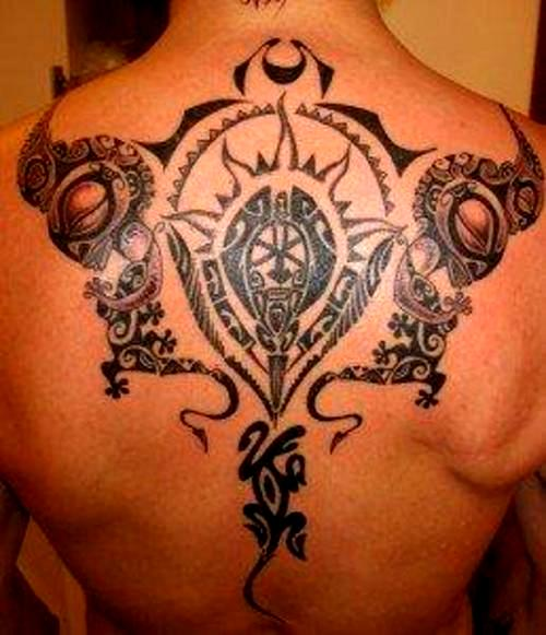 Maori Polynesian Tattoos On Back