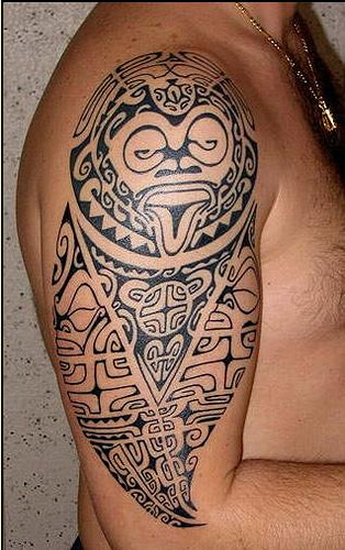 Maori Polynesian Tattoos On Half Sleeve