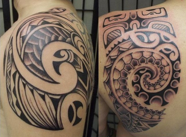 Maori Polynesian Waves Tattoos
