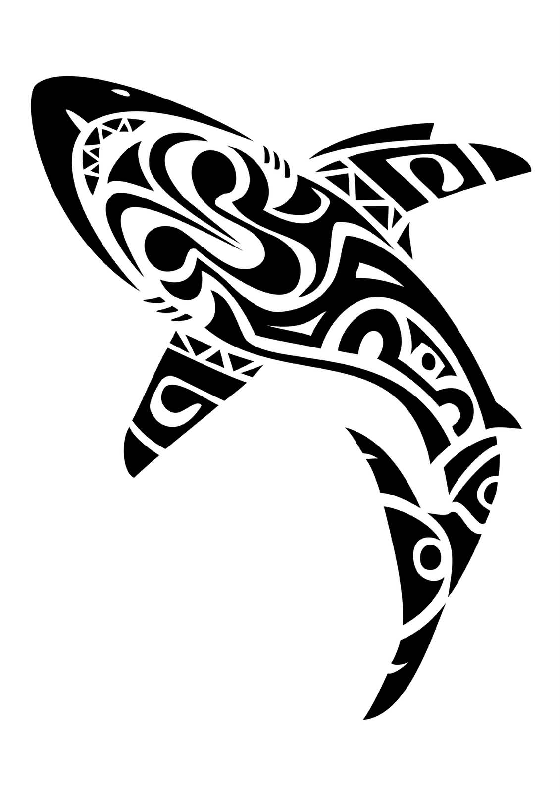 The Latest Maori Shark Tattoo Design