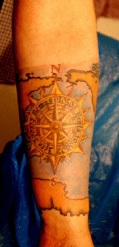 Map And Compass Tattoos