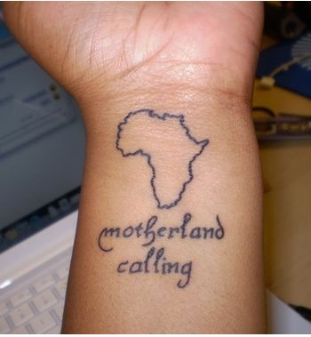 Map And Motherland Calling Wrist Tattoos