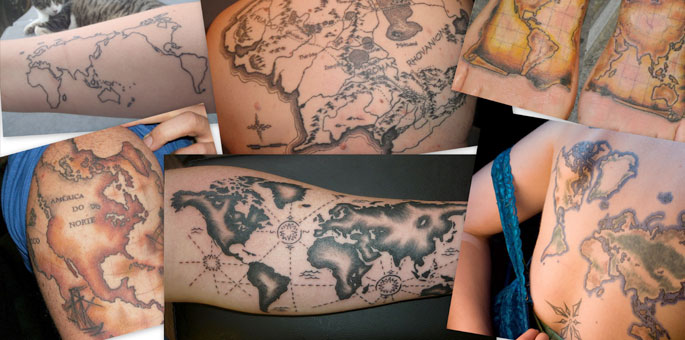 Map Tattoo Images