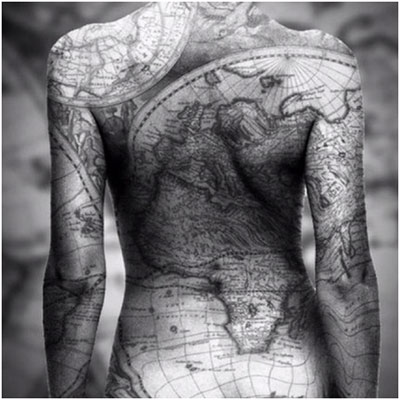 Map Tattoo On Entire Back