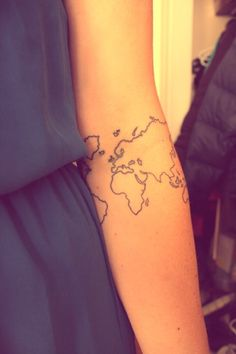 Map Tattoos On Forearm