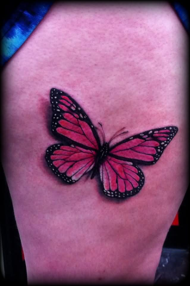 Marvelous 3D Butterfly Tattoo
