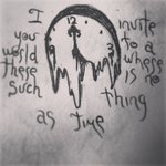 Melting Clock Tattoo Drawing