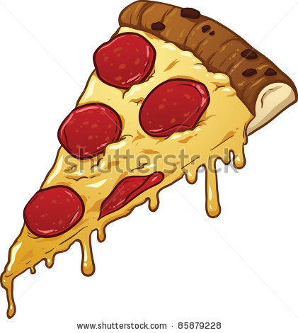 Melting Pizza Tattoo Model