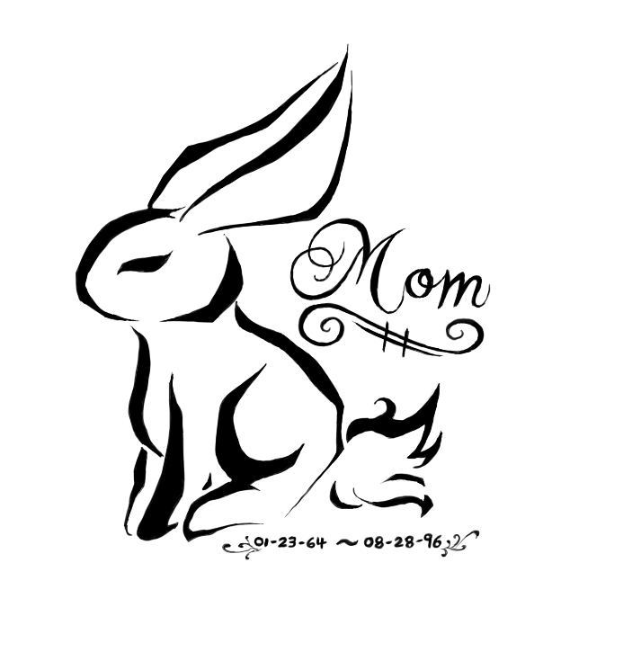 Mom Rabbit Tattoo Design