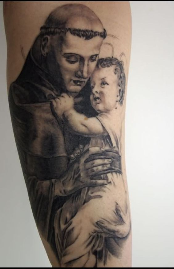 Mother With Cute Kid - 3D Tattoo