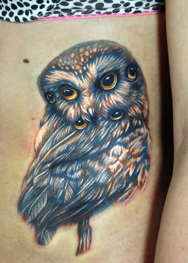 Multi Eyed Owl Tattoo