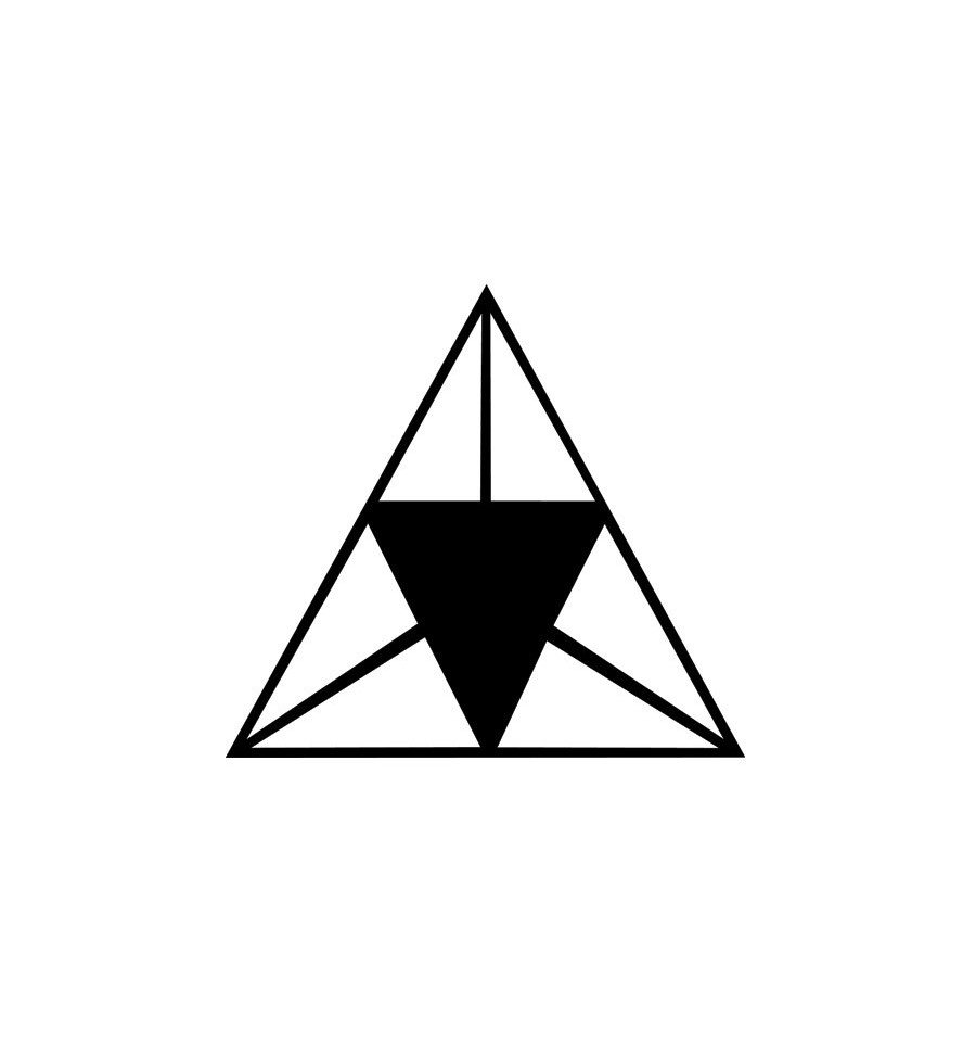 Multiple Triangle Tattoo Version