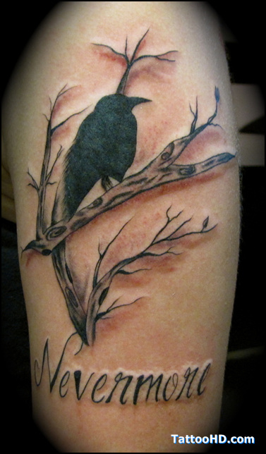Never More - Crow Tattoo