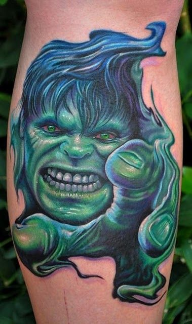 New 3D Hulk Tattoo
