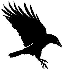 New Black Ink Crow Tattoo Sample