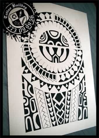 New Black Polynesian Tattoo Flash