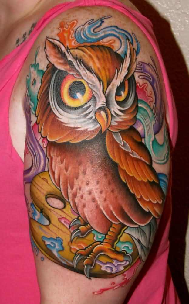 New Brown Owl Tattoo Look Amazing