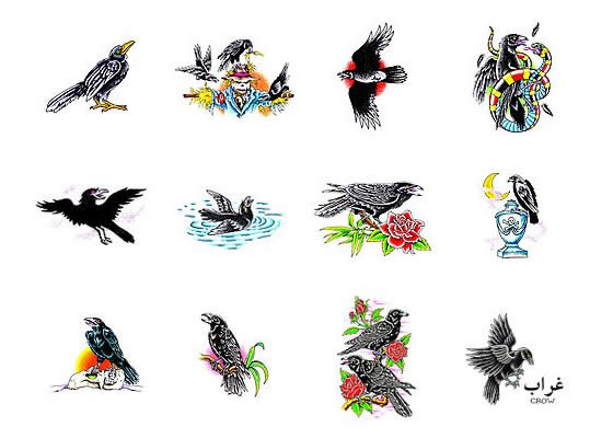 New Crow Tattoos Collection