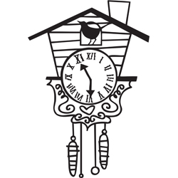 New Cuckoo Clock Tattoo Stencil