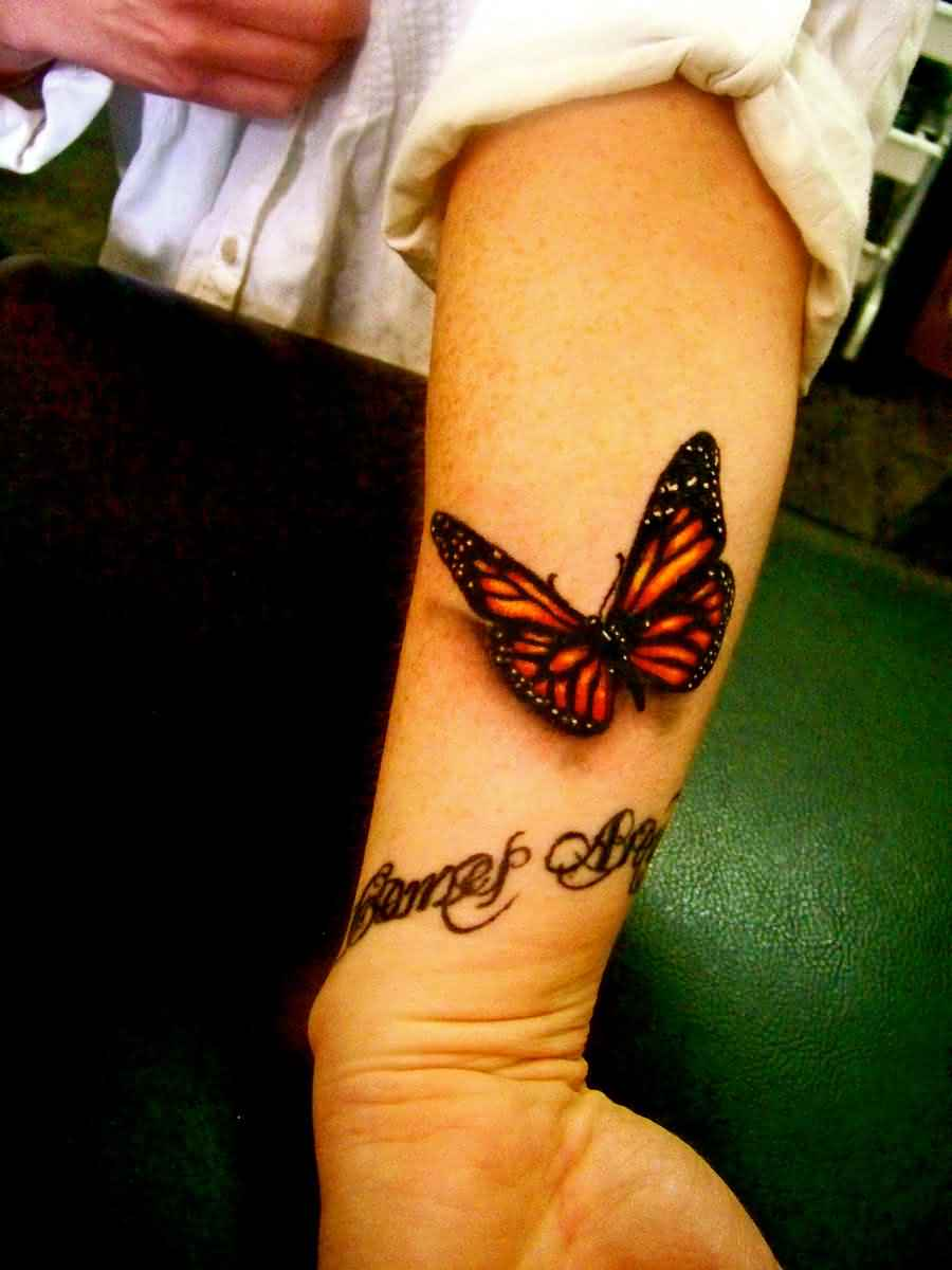 New Fashion Of 3D Butterfly Tattoo For Girls