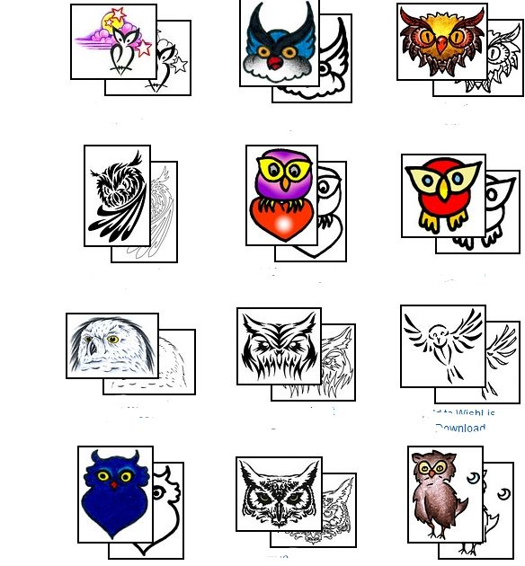 New Owl Tattoos Collection