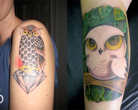 New Owl Tattoos On Arm