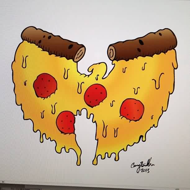New Pizza Tattoo Flash