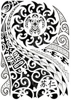 New Polynesian Tattoo Design For Half Sleeve