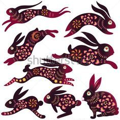 New Rabbit Tattoos Set