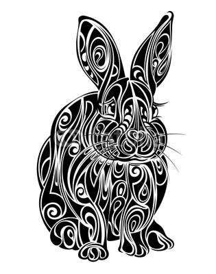 New Release Easter Rabbit Tattoo Design