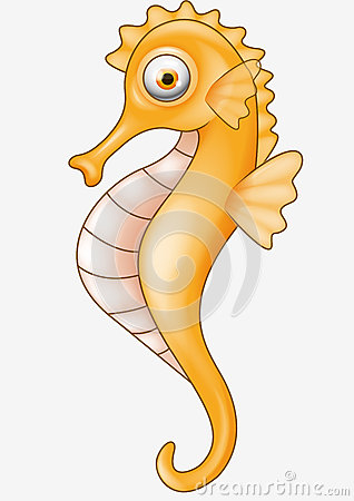 New Release Seahorse Cartoon Tattoo Design