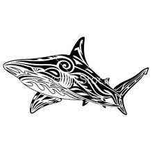 New Release Shark Tribal Tattoo Design