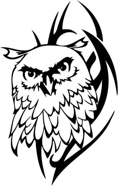 New Release Tribal Owl Tattoo Design