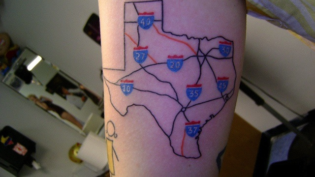 New Road Map Tattoo