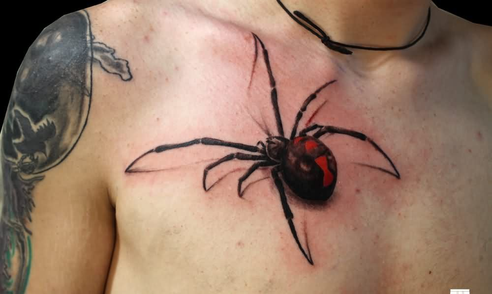 New Style Of 3D Spider Tattoo For Guys