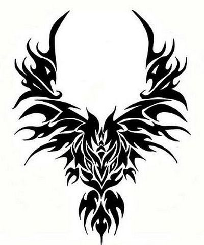 New Tribal Crow Tattoo Design