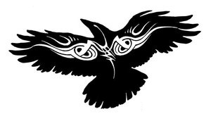 New Tribal Crow Tattoo Stencil