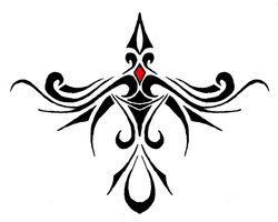 New Tribal Crow Tattoo Style