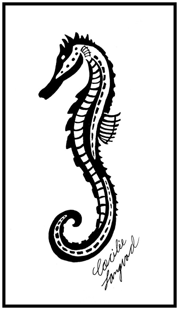 New Tribal Seahorse Tattoo Photo
