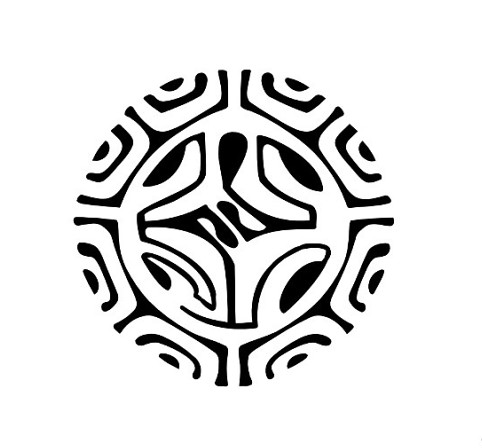 Newest Polynesian Circle Tattoo Design