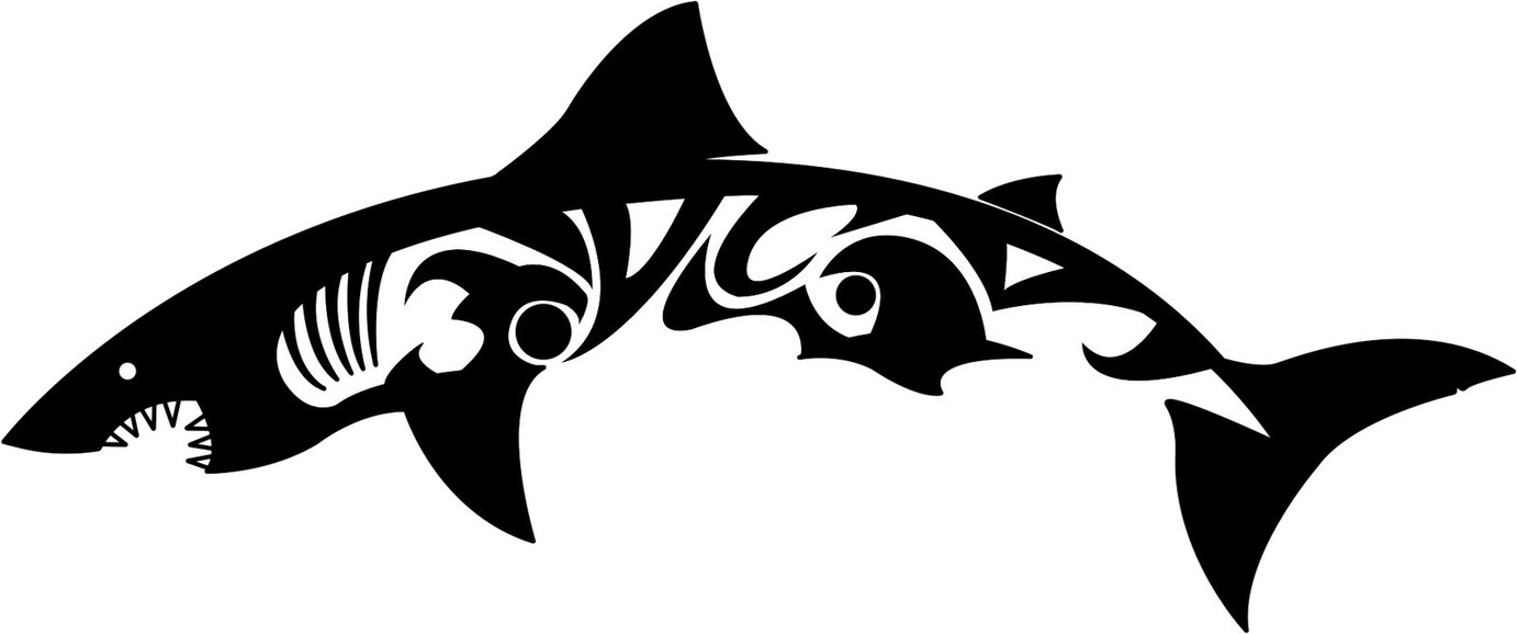 Newest Tribal Shark Tattoo Design