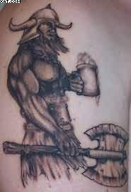 Nice Viking Warrior Tattoo