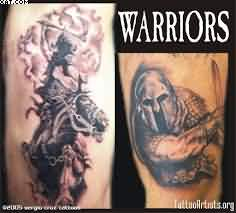 Nice Warriors Tattoos