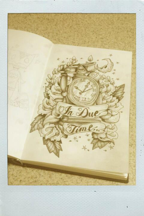 Old School Clock And Roses Tattoo Designs Page