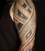Once Again Polynesian Tattoo On Sleeve