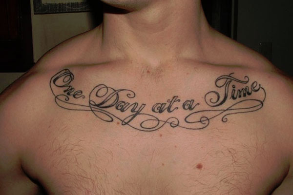 One Day At A Time Collarbone Tattoo