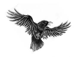 Open Wings Crow Tattoo Sample (2)
