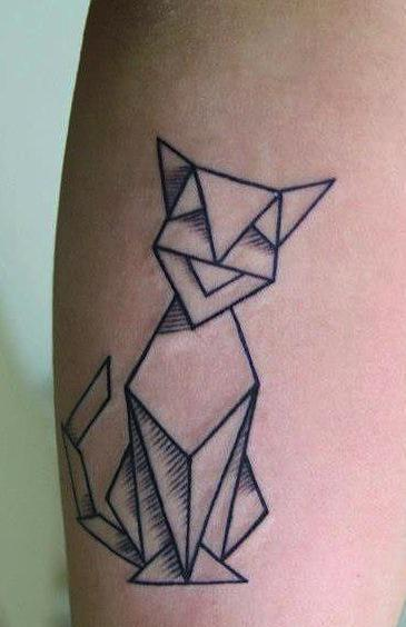 Origami Rabbit Tattoo